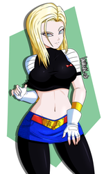 Super Android 18 by DANMAKUMAN