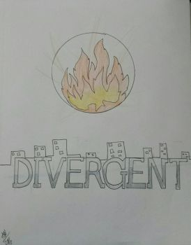 Divergent Book Cover by Anestasi