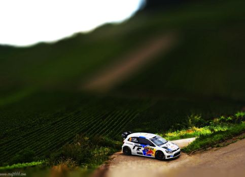 WRC Red Bull (tilt shift) by craft666