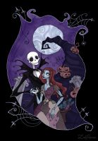 Jack and Sally by IrenHorrors