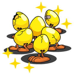 Shiny Exeggcute + Sheldon (Garfield and Friends) by shawarmachine