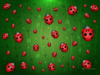 All is Full of Ladybugs by vladstudio
