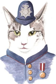 18th century cats: Nikolai the English Bobby by Nien-Ja