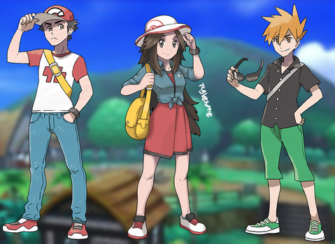 Pokemon Trainer Leaf by Ravenide