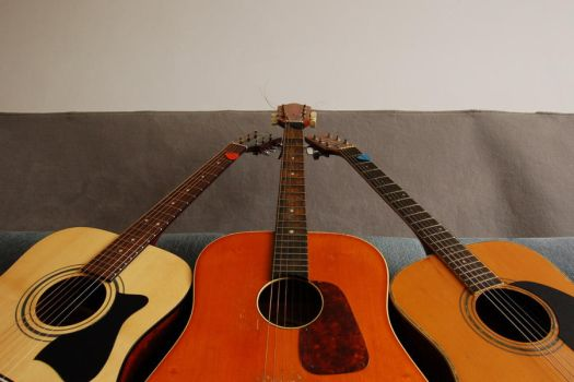 3 guitars by Wilber
