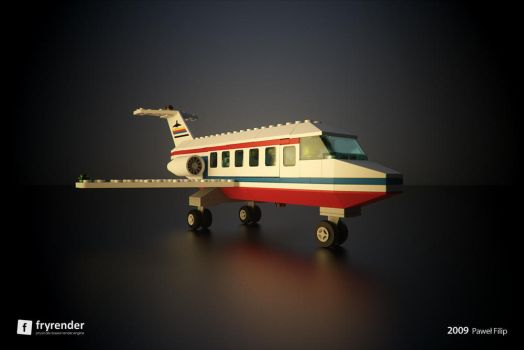 Lego Plane Variation by zmoodel