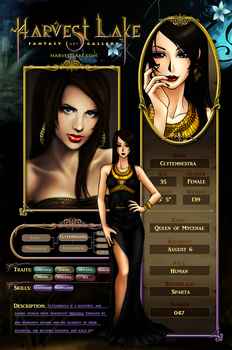 HL Character Info - Clytemnestra by ErisForan