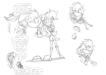 Some Rayman And Lizzie Doodles by Susukomakerfi18