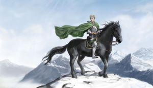 Alex on Horse on Mountain by dashinvaine