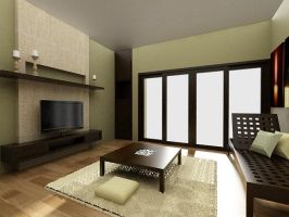 Living room interior by dandygray