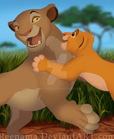 Sarabi and Simba by marlynxTLK