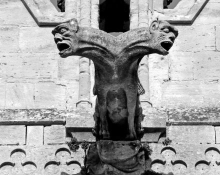 Two headed gargoyle - a front view by UdoChristmann