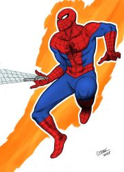 Spiderman color by Omaik