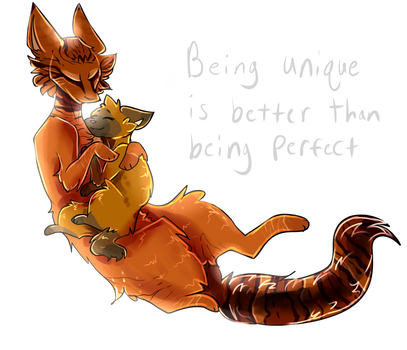 Foxcry and Burntpaw by D--A--N--C--E