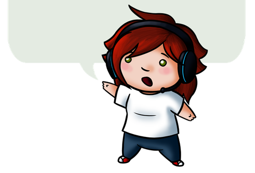 Journal Footer Chibi by KTechnicolour
