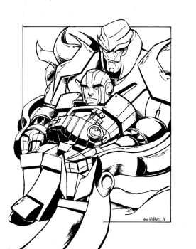 Megatron Ironhide commission by SueWithers