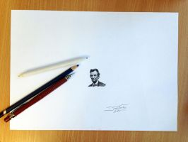 Mini Abe Drawing by AtomiccircuS