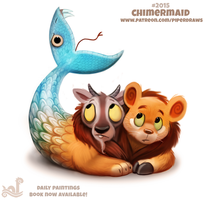 Daily Paint 2015# Chimermaid by Cryptid-Creations