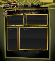 College Burnout Template 2 by kandiart