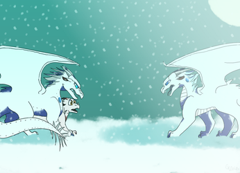 (C) Snowy battle by KrystalRaccoon2002