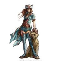 Fable 2 A hero and her dog by OmenD4