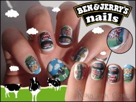 Ben and Jerry's nails by Ninails