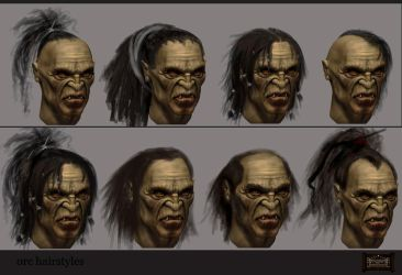 orc hairstyles by AntonPo