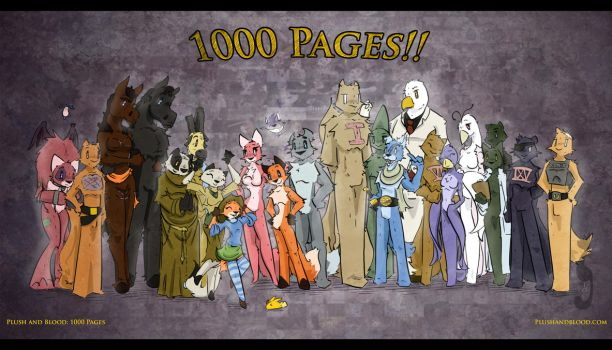 Plush and Blood: 1000 Pages by TiredOrangeCat