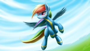 Rainbow Dash Wonderbolt by ZiG-WORD