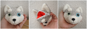 Odd-Eye Husky Coin Purse by judithchen
