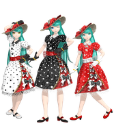 [Dreamy Theater] .: Polkadots Dress Miku :. by PiettraMarinetta