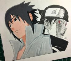 Sasuke and Itachi by artxnoa