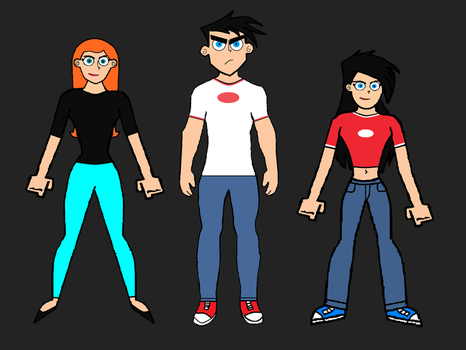 The Fenton Siblings- Danny, Danielle and Jazz. by LooneyAces