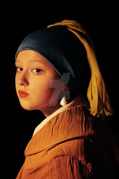 Girl with a Pearl Earring by Rominitunguis