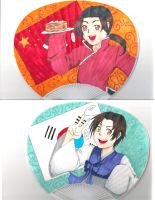 APH Korea and China Fan by ChibiIlliterate1