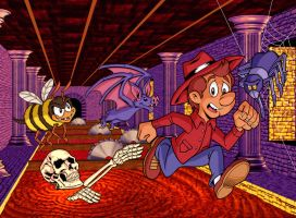 Sydney Hunter and the Sacred Tribe Super NES cover by tygerbug