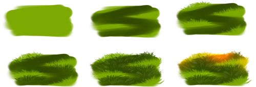 How i draw grass by ryky