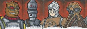Star Wars Galactic Files Sketchcards Part 5 by bdeguire