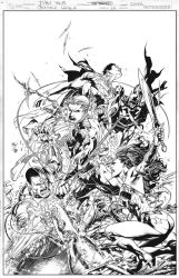 JUSTICE LEAGUE Issue 16 COVER by JoePrado2010
