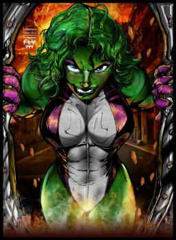 She Hulk by henflay