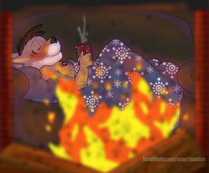 Hot Chocolate and a Cozy Fire by Songficcer