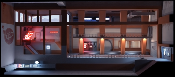 Tf2  Intel room concept art by MikeTheUser
