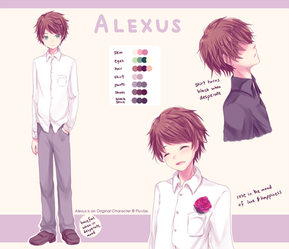 Alexus Reference Sheet by Pluvias