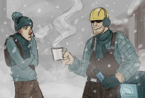 Engie and Scoot by Detkef