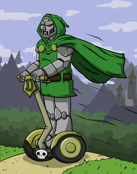 Dr. Doom on his Segway by KahunaBlair