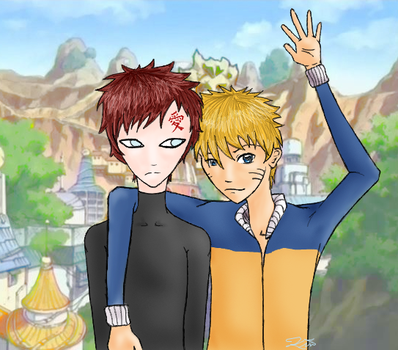 Gaara and Naruto: For Flott by l3ubbles