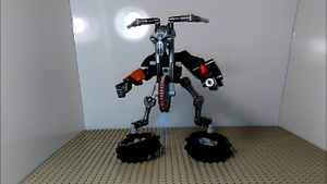 Motorcycle transformer (robot mode) by sideshowOfMadness