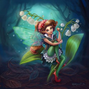 Fly agaric fairy by ironycat