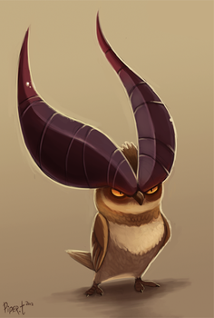 2.5 Horned Owl (40 Minutes) Penalty by Cryptid-Creations