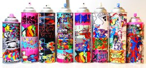 Graffiti Art Spray Can Collection by MF-minK